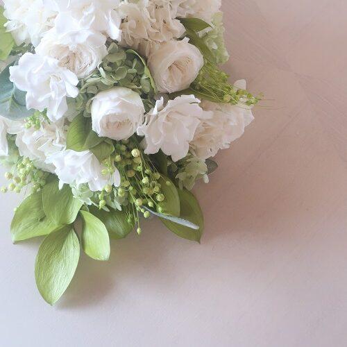 白花束ブーケ