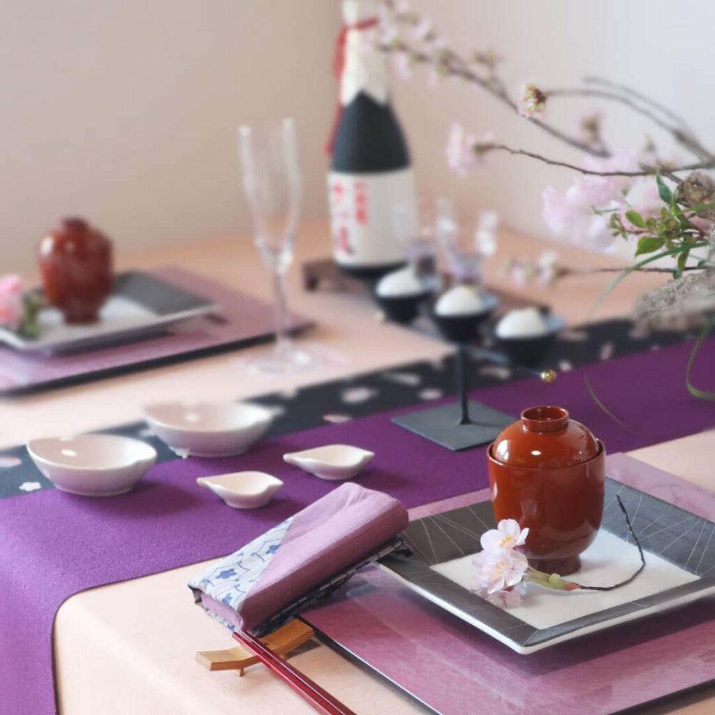 漆器のテーブルコーディネート